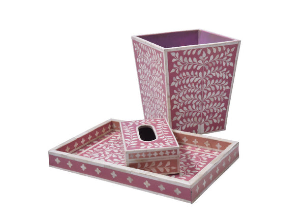 Bone Inlay Pink (Set)