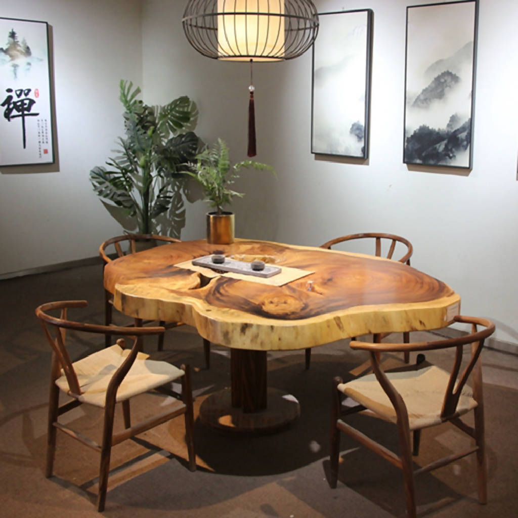 African Zingana Slab Dining Table 4