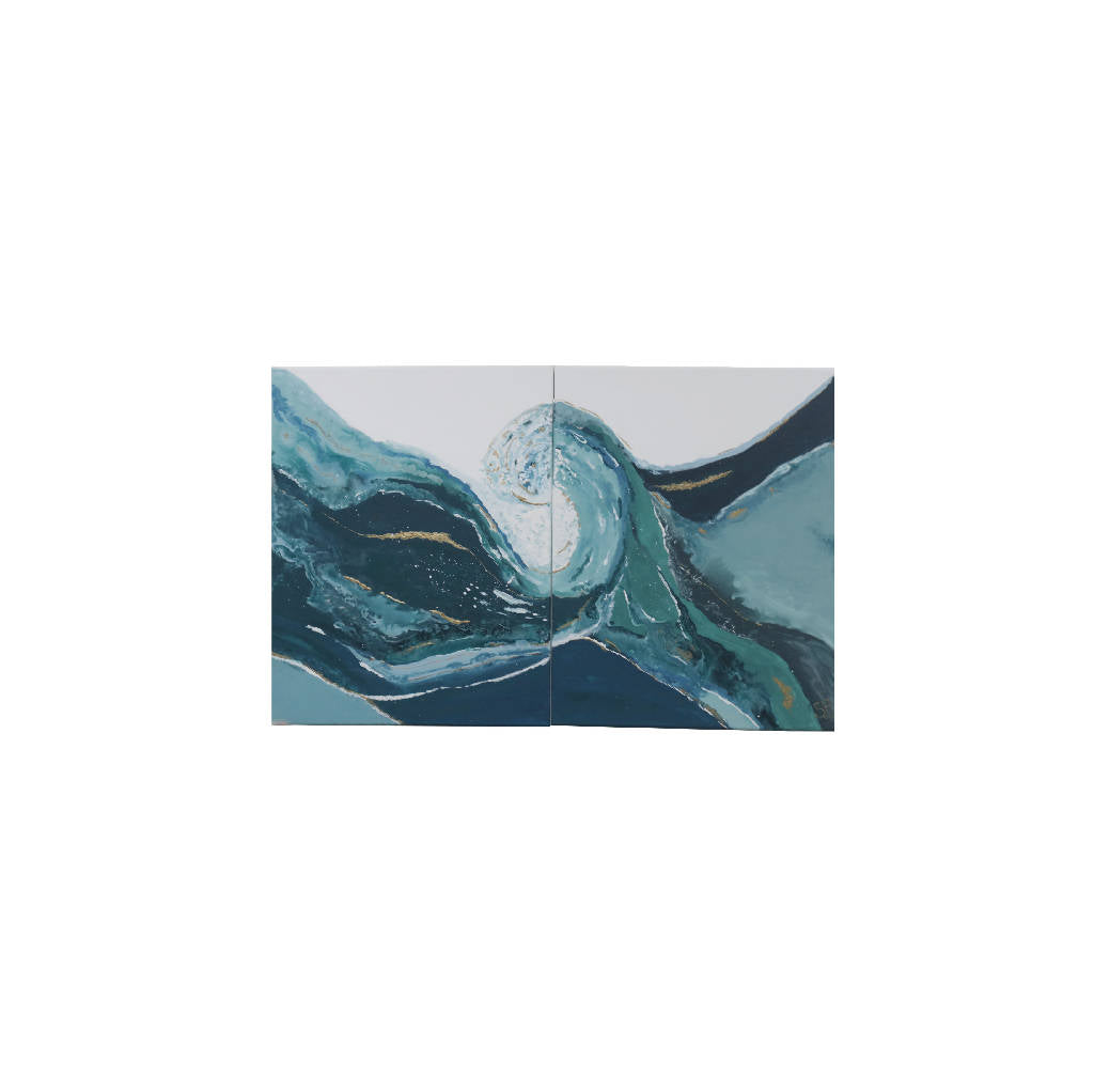 Sea Wave Painting (Set Of Two)