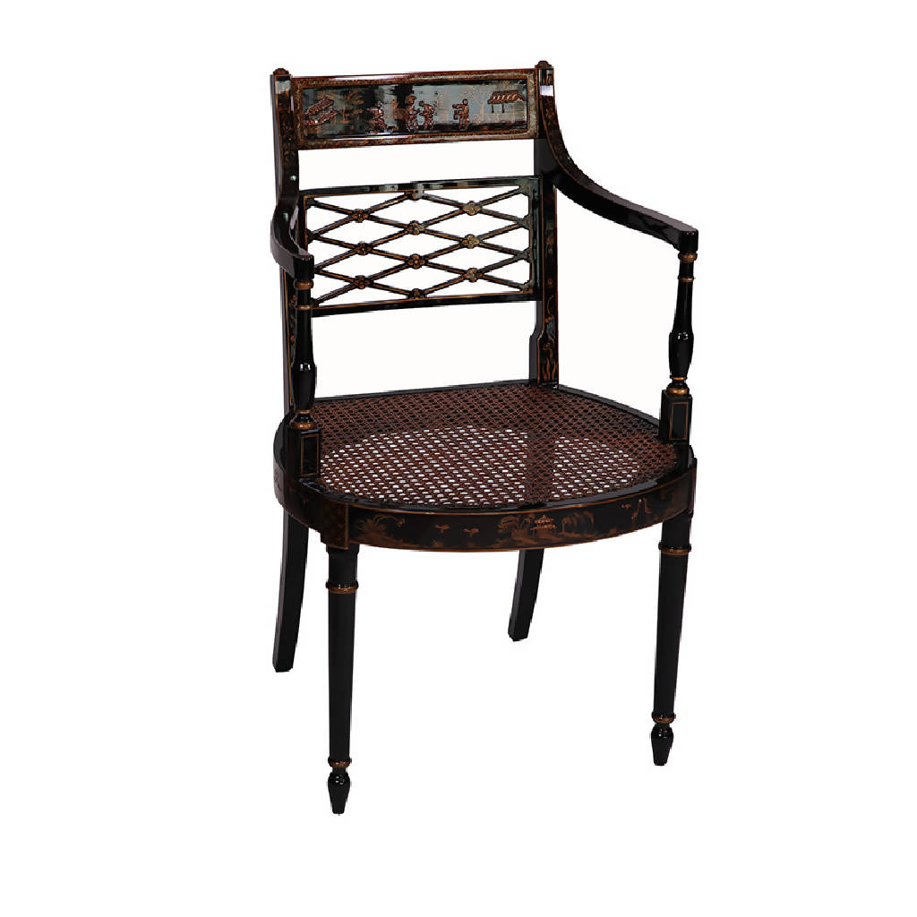 Chinoiserie Armchairs - Chino Black (2 pieces)
