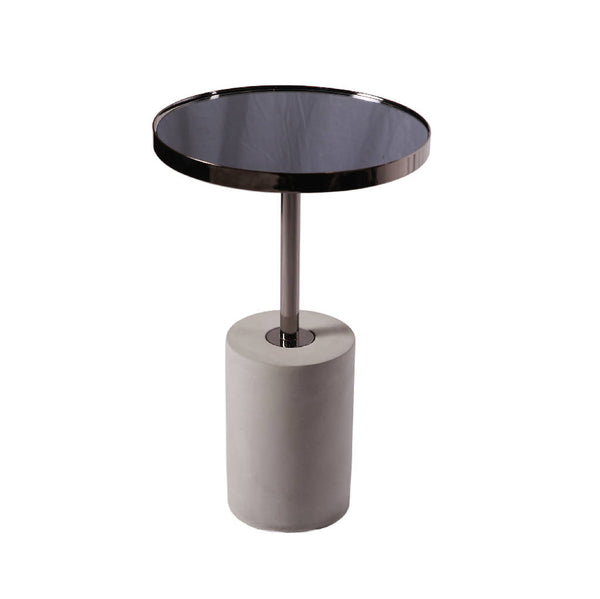 Round Metallic Black Table - Tall