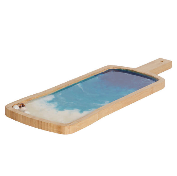 Rectangle Tray with Handle - Ocean Blue (Long)