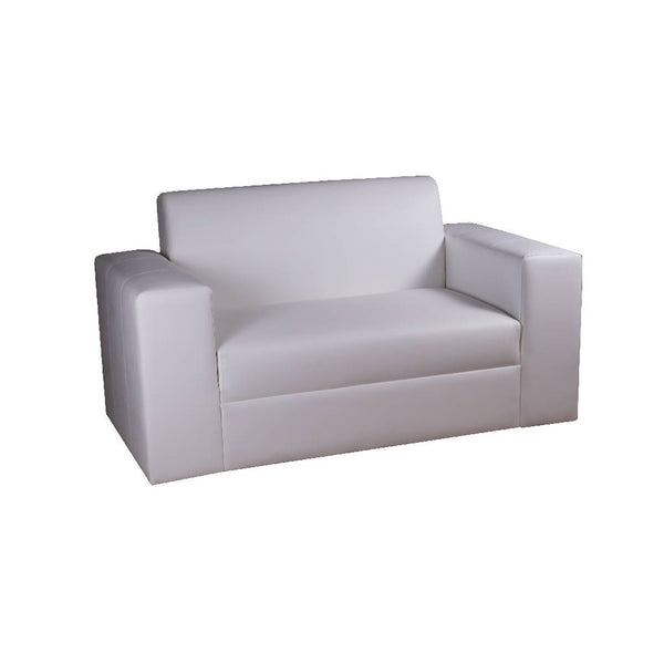 Modern Sofa - White Leather