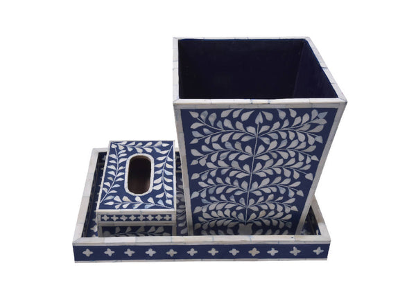 Bone Inlay Blue (Set)