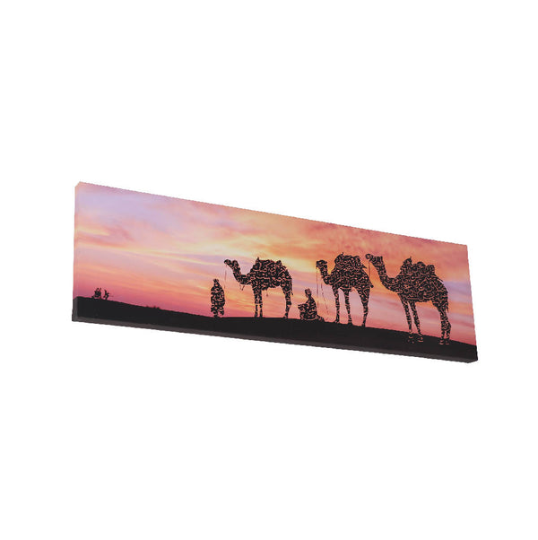 Camel With Sunset on Arabic Calligraphy