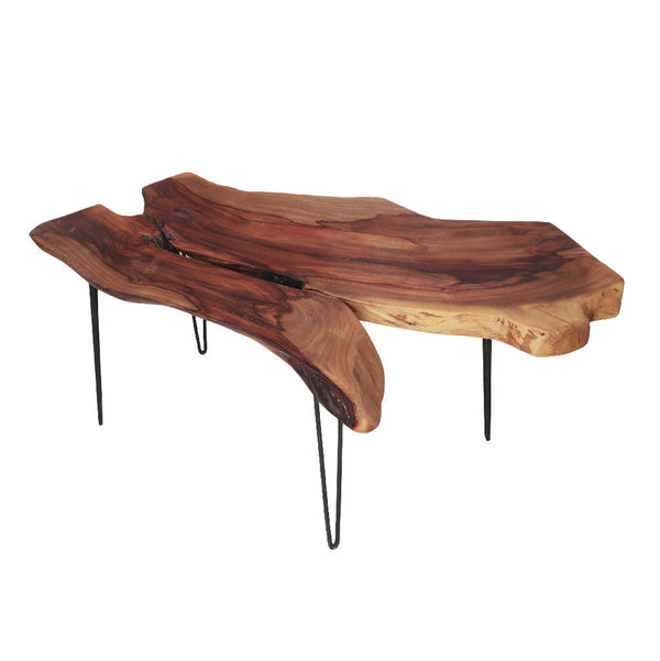 Coffee Table With Natural Shape Sidr Wood