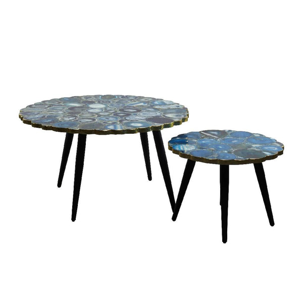 Blue Agate Stone Table