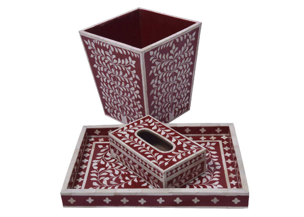 Bone Inlay Red (Set)