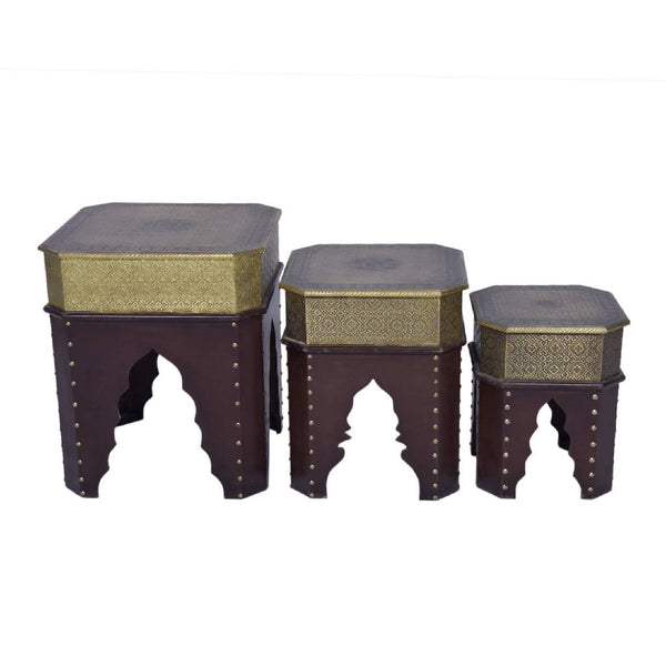Indian square Nesting tables (Set of 3)