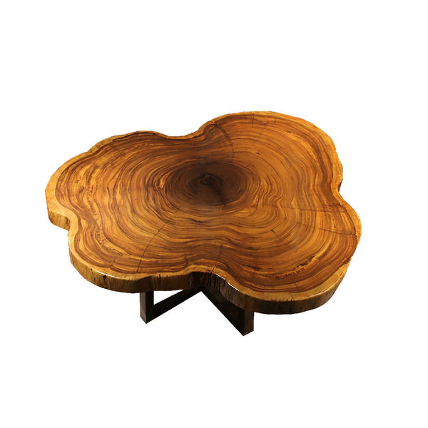 African Zingana Slab Dining Table 1