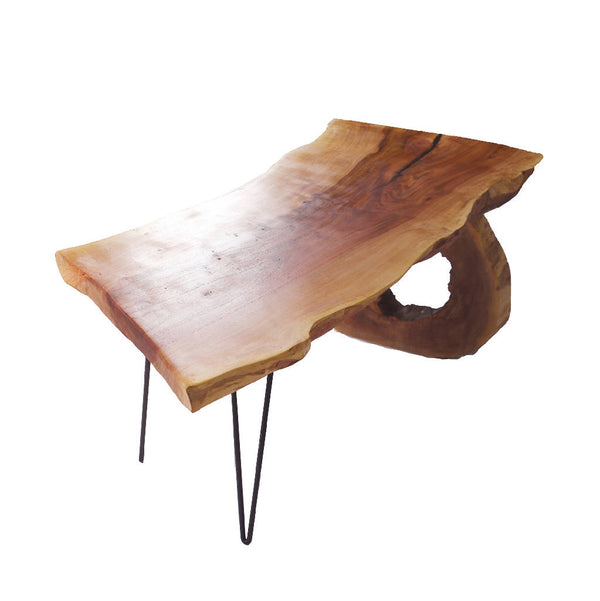 Sidr Wood Table With Natural Circular Leg