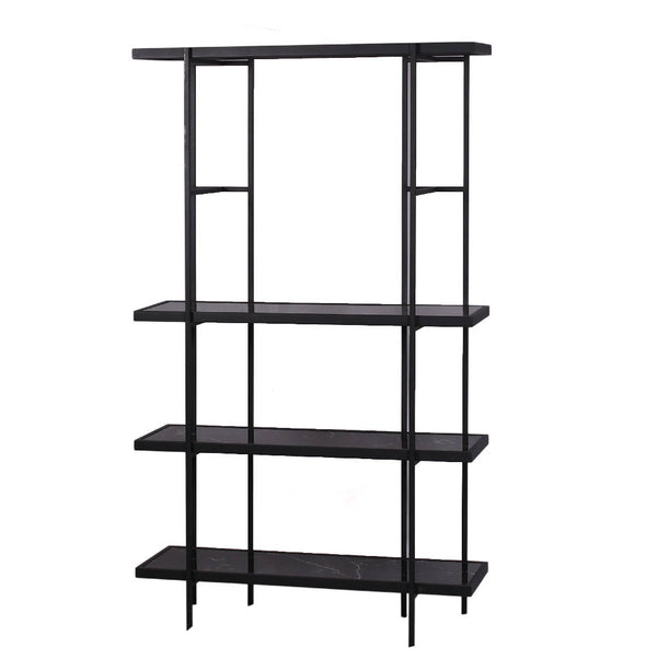 Bookshelf with Marble Glass Base - Black