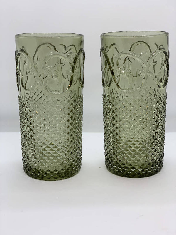 Vintage Drinking Glass - Classic Green (6 pcs.)