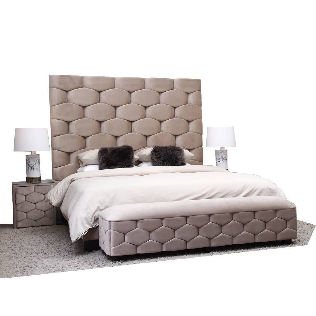 Mozaique XL Bed - Velluto 46 Grey
