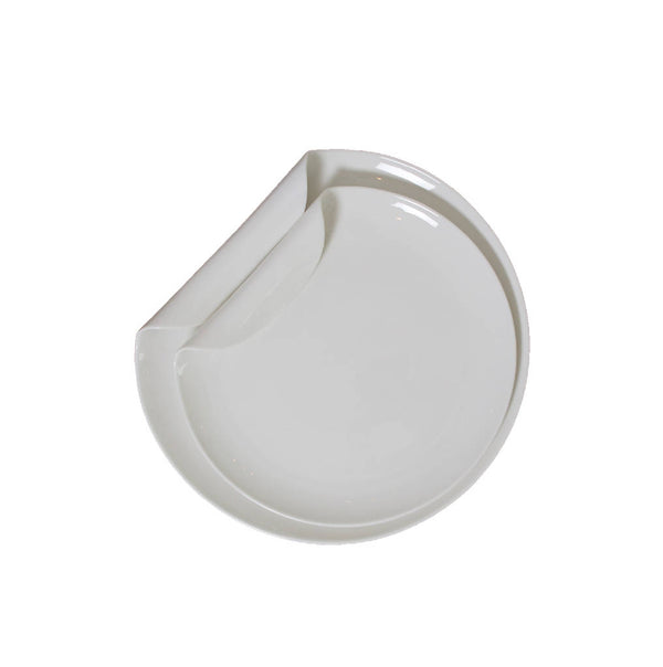 Round Serving Dishes with Curved Edge (2 pcs.)