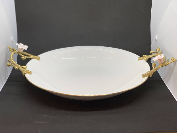 Serving Plate with Brass Handles