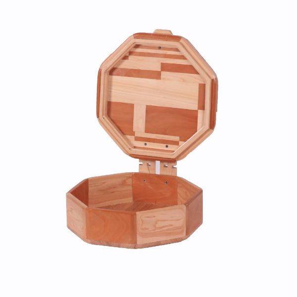 Octagonal Wooden Box -Two Tone