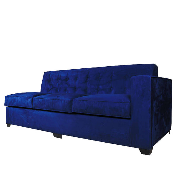 Modern Sofa - Dark Blue Velvet (Customized)