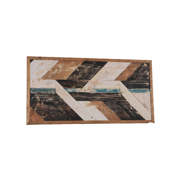 Rustic Wall Decor Wave Geometric