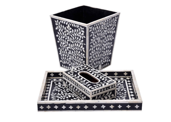 Bone Inlay Black (Set)
