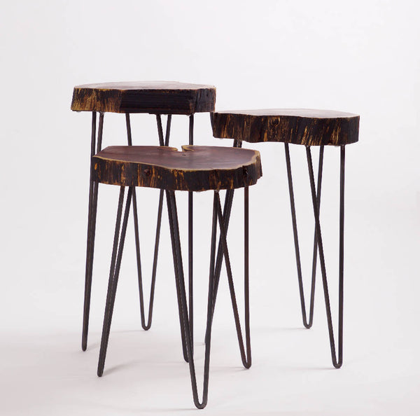 Dark Willow Wood Tables (3 pcs.)
