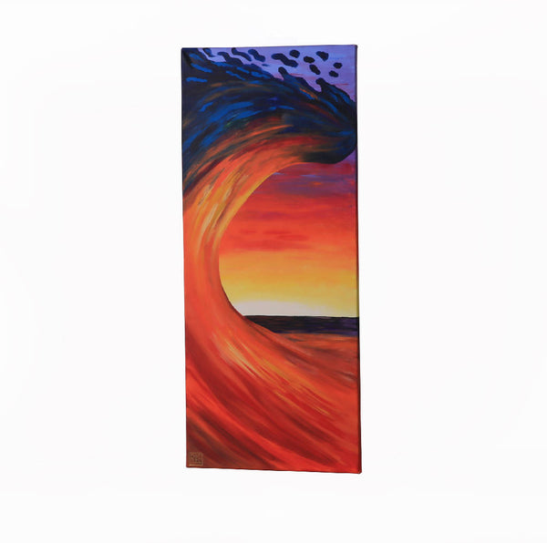 Sunset Wave Painting