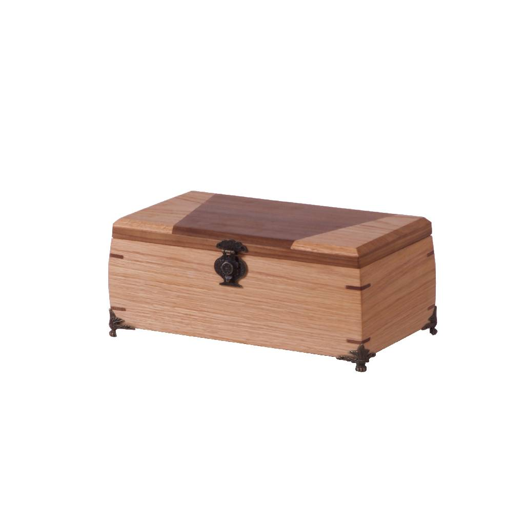 Wooden Box - Top Two Tone Trapezoid