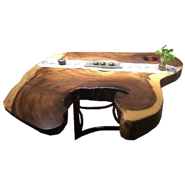African Zingana Slab Dining Table 3