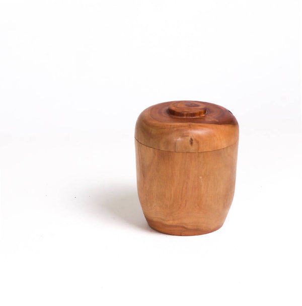 Eucalyptus Wood Jar With Lid