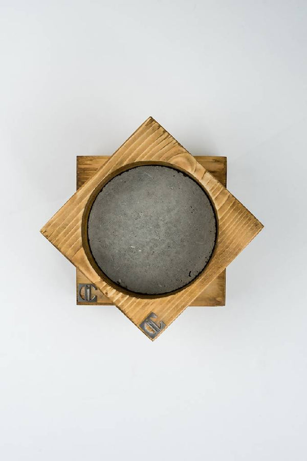 Concrete & wooden bowl coasters