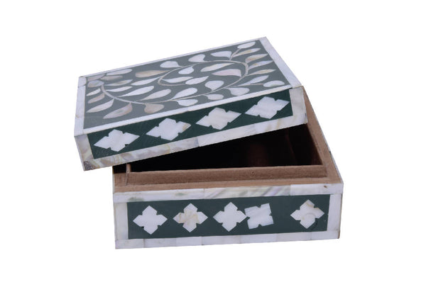 Mother Of Pearl Incense Box - Green