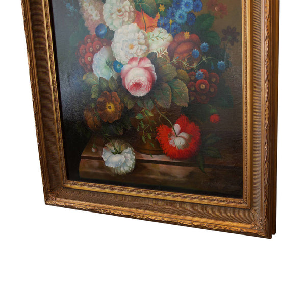 Vase Of Roses Oil Painting - French