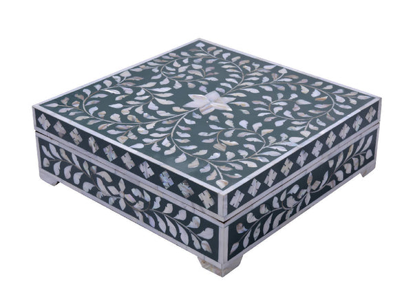 Mother Of Pearl Box - Green
