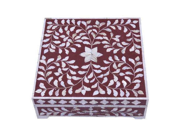 Mother Of Pearl Box - Red
