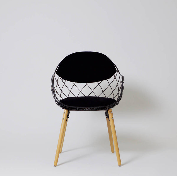 Basket Chair - Black (4 pcs.)