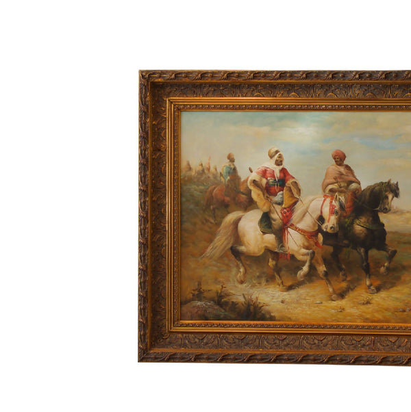 Arabian knights on horses - Oil Painting