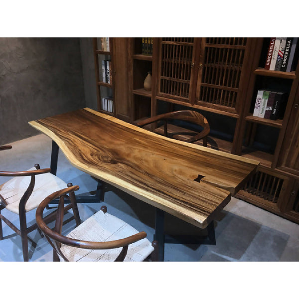Walnut Slab Dining Table 11