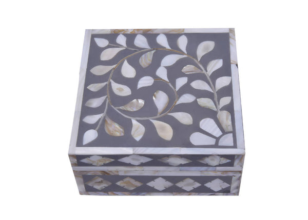 Mother Of Pearl Incense Box - Gray