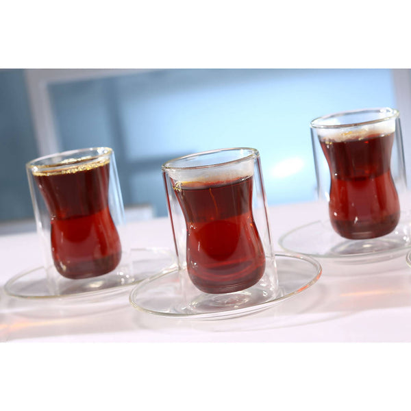Istikana Double Glass & Saucer ( 6 pcs.)