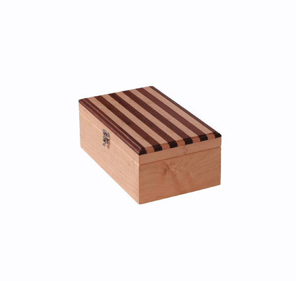 Wooden box - striped top