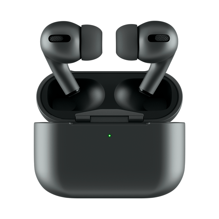 Official BlackPods Pro 2.0 - Matte Black AirPods Pro with Wireless Charging Case   WripWraps Skins