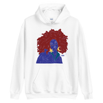 Load image into Gallery viewer, Blue Afro Hoodie by Aislinn Finnegan
