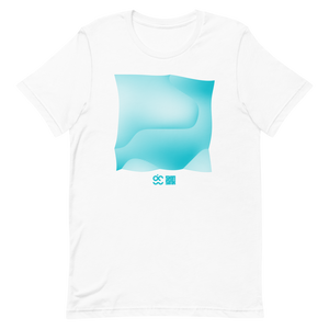 Perlin Noise 1 Turquoise T-Shirt by Generated Simplicity