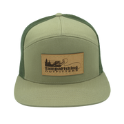 TFO Green Leather Patch Hat