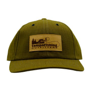TFO Khaki Leather Patch Hat