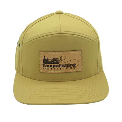 TFO Beige Leather Patch Hat