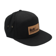 TFO Black Leather Patch Hat