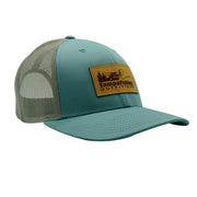 TFO Pastel Blue/Grey Leather Patch Hat