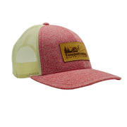 TFO Red/Cream Leather Patch Hat