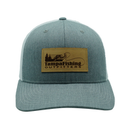 TFO Grey/White Leather Patch Hat